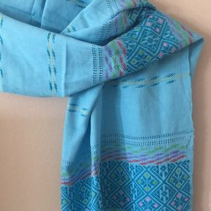 Handwoven and handstitched scarf from Myanmar